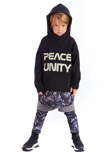 Colorinas Unity Slogan Baskılı Sweatshirt Renkli